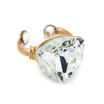 Fancy Ring in 14K Gold-filled: Swarovski® Crystal