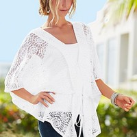 White Crochet tunic, seamless cami  from VENUS