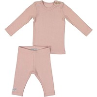 Lil Leggs Unisex-Baby Blush 2-Piece Ribbed Set (18M-4T)
