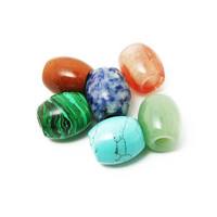 Natural Stone Dreadlock Beads 15x17mm Dia, Hole: Approx 6mm,