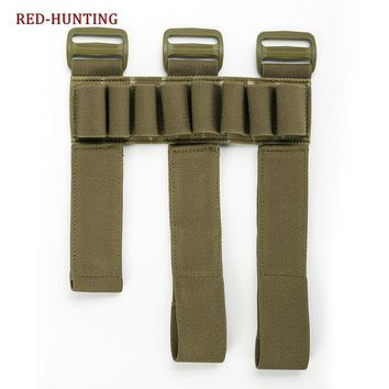 Tactical Hunting 8 Rounds Ammo Gauge Gun Bullet Shell Holder Carrier Forearm Sleeve Mag Magazine Pouch Holster