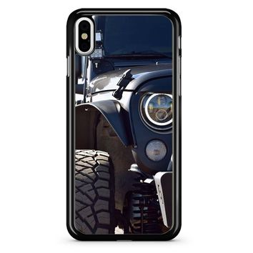 Jeep Wrangler Half Body iPhone X Case