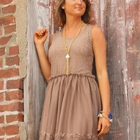 Country Strong Dress in Taupe