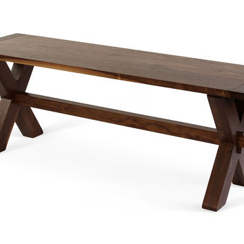 "Brenton 54"" Bench, Walnut, Bedroom Bench"