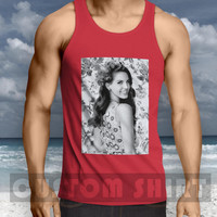 flowers lana del rey vintage Men Tanktop -144 Tanktop For Men  / Custom - Tanktop / Men Tanktop