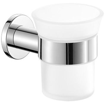 SCBA Galaxy Wall Frosted Glass Toothbrush Toothpaste Holder Bath Tumbler - Brass