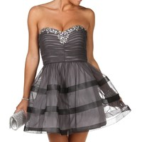 Uliana-gray Homecoming Dress