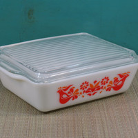 Pyrex Friendship Large Refrigerator Dish with Lid Casserole