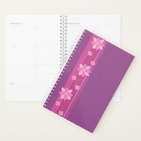 Pink Flowers Planner