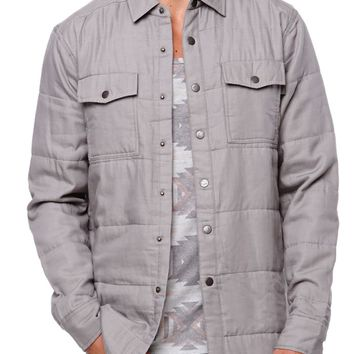 AMBIG Oly Shacket Long Sleeve Shirt - Mens Shirts - Gray