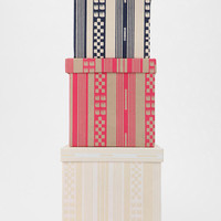 Urban Outfitters - Geo-Stripe Storage Box - Set Of 3