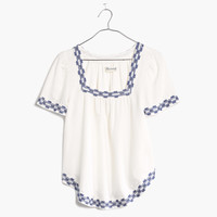 Arrowstitch Peasant Top