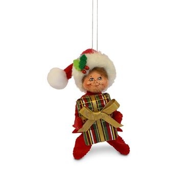 Annalee Dolls 4in 2018 Christmas Plaid Tidings Elf Ornament New with Box