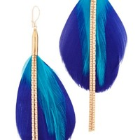 Double Drop Feather Earrings