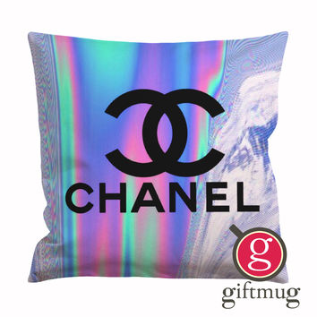 Coco Chanel Holographic Cushion Case / Pillow Case