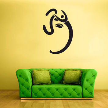 rvz249 Wall Vinyl Sticker Decal Elephant Ganesh Ganesha Symbol India Buddha Buda Z249
