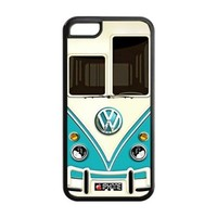 Iphone 5c Case, Teal VW Minibus Iphone 5c Cover Hard Cases