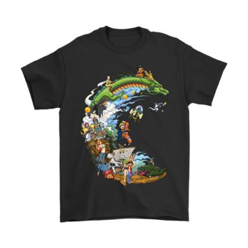 PEAPINY Mashup Anime 3D Bleach Dragon Ball Naruto One Piece Shirts