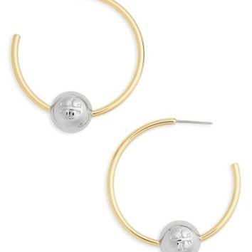 Tory Burch Logo Hoop Earrings | Nordstrom