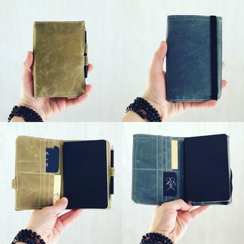 The Ledger Collection No. 109 - Pocket Journal with Cover, Business Card Case