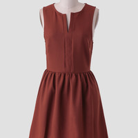 Regents Street Frock In Rust