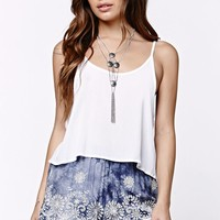 LA Hearts Eyelet Ruffle Shorts - Womens Short - Blue