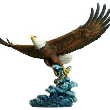 Eagle Catching Fish Statue - 8381