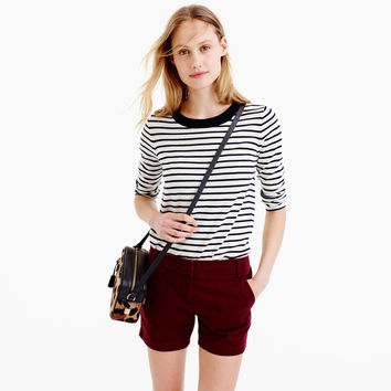 "5"" chino short : Women solid 