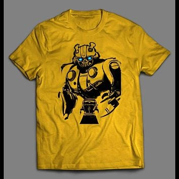 YOUTH SIZE BUMBLE BEE TRANSFORMER MOVIE ART T-SHIRT