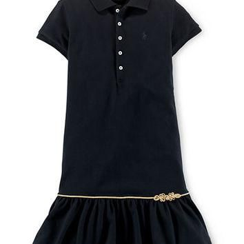 Ralph Lauren Childrenswear Girls 2-6x Cotton Polo Dress