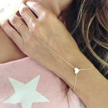 Fashion simple metal heart-shaped peach heart bracelet chain bracelet
