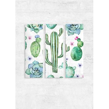 Cactus Wood Wall Art