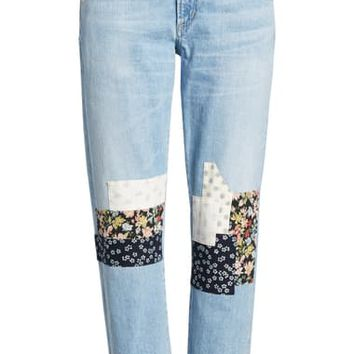 Citizens of Humanity Emerson Crop Slim Boyfriend Jeans (Heartland Patch) | Nordstrom