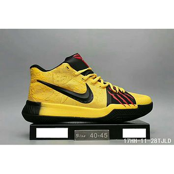 Nike Kyrie 3 Owen 3 real basketball shoes F-HAOXIE-ADXJ Yellow