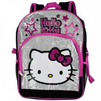 Black & Pink Hello Kitty Stars Backpack (pack of 2)
