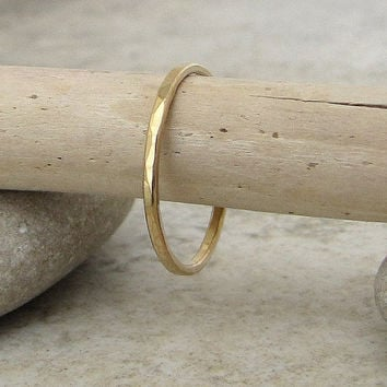 Thin Gold Ring Gold Wedding Band Womens Gold Wedding Bands 14k Gold Stacking Rings Gold Promise Rings Thin Gold Wedding Ring Gift for Her