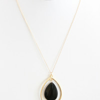 Obsidian Pendulum Necklace - Necklace