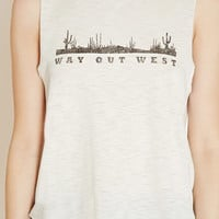 Way Out West Graphic Muscle Tee | Forever 21 - 2000205524