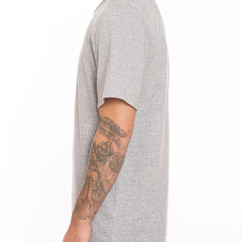French Terry Split Hem Tall Tee Heather Grey
