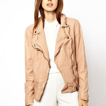 Muubaa Monteria Leather Biker Jacket