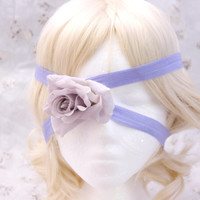 Broken Doll Lavendar Baby Purple White Eye Patch and Headband