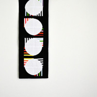 Modern Table Runner, Graphic Table Decor, Black Wall Hanging, Quilted Table Runner, Minimalist, Geometric Black & White