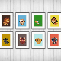 King Of The Jungle, Lion Nursery Decor, Playroom Art, Boys Room Decor, Nursery Decor, Little Lion Kids Room, 5x7 or 8x10 Prints