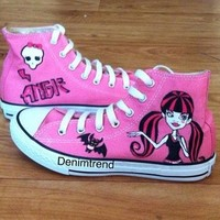 Monsters High shoes - Free Shipping Hand Painted Shoes from denimtrend