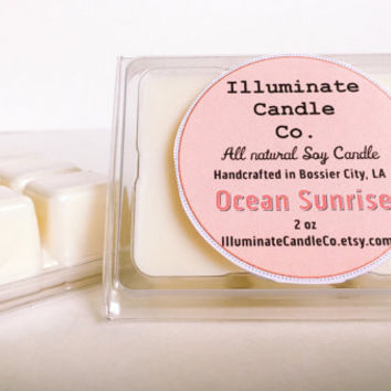 Ocean Sunrise Soy wax melt, Organic Wax Melt, Wax Tarts, Wax Melt, Soy Wax, Clamshell Melts, Candle melt, Wax warmer