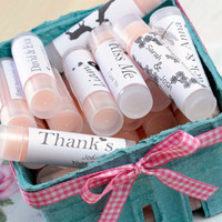 Personalized Lip balm Wedding Favors made with natural oils and butters