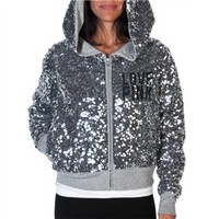 Dallas Cowboys PINK MVP Sequined Full Zip Hoodie | Dallas Cowboys Clothing | Dallas Cowboys Store - Dallas Cowboys Pro Shop