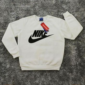 One-nice™ Nike: Male / female fashion sports sweater white I