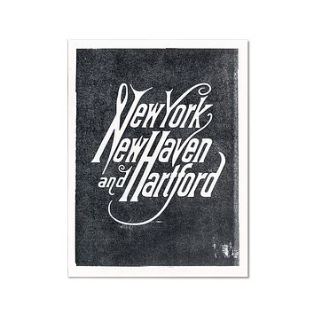 New York, New Haven, Hartford Art Print