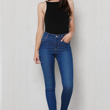 PacSun Azure Super High Rise Skinny Jeans at PacSun.com
